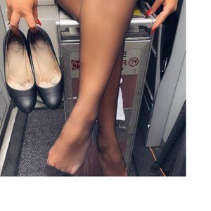 Polish Sheer Airline Beige Pantyhose Tight x 3